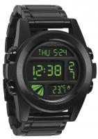 Nixon Unit SS Watch - All Black / Green