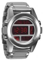 Nixon Unit SS Watch - Silver / Red