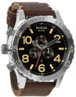 Nixon 51-30 Chrono Leather Watch - Black / Brown