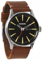 Nixon Sentry Leather Watch - Black / Brown