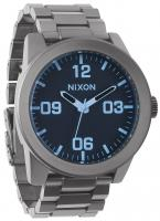 Nixon Corporal SS Watch - Gunmetal / Blue Crystal