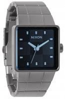 Nixon Quatro Watch - Gunmetal / Blue Crystal