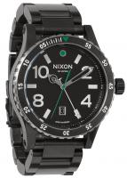 Nixon Diplomat SS Watch - Black / Silver / Green