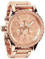 Nixon 51-30 Chrono Watch - All Rose Gold