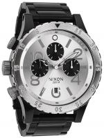 Nixon 48-20 Chrono Watch - Black / Silver