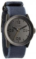 Nixon Private Watch - Gunmetal / Navy Frayed