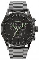 Nixon Sentry Chrono Watch - Polished Gunmetal / Lum