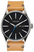 Nixon Sentry Leather Watch - Natural / Black
