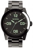 Nixon Corporal SS Watch - Polished Gunmetal / Lum