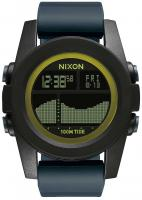 Nixon Unit Tide Watch - Black / Dark Grey / Chartreus