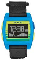 Nixon Base Tide Nylon Watch - Blue / Yellow / Fade
