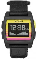 Nixon Base Tide Nylon Watch - Pink / Yellow / Fade