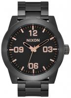 Nixon Corporal SS Watch - Black / Rose Gold