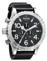 Nixon 51-30 Chrono Leather Watch - Black