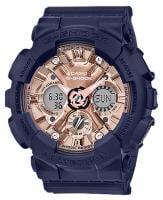 G-Shock S-Series Watch - Navy / Rose Gold
