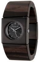Vestal Rosewood Slim Watch - Burnt Ebony / Black