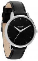 Nixon Kensington Leather Watch - Black