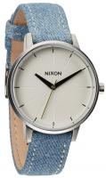 Nixon Kensington Leather Watch - Washed Denim / Cream