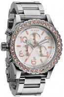 Nixon 42-20 Chrono Watch - Silver / Champagne Crystal