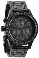 Nixon 38-20 Chrono Watch - All Black Crystal