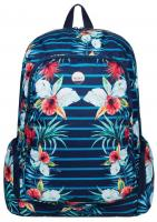 Roxy Alright Backpack - Exotic Lines Combo Marine
