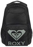 Roxy Shadow Swell Printed Logo Backpack - Anthracite