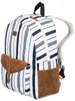 Roxy Carribean 18L Backpack - Marshmallow / Licorice Stripe