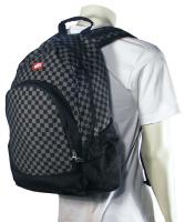 Vans Van Doren Backpack - Checkerboard Black / Charcoal