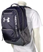 Under Armour Hustle Backpack - Navy / Silver