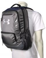 Under Armour Hustle Backpack - Classic Graphite / Silver