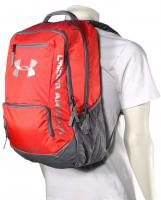 Under Armour Hustle Backpack - Red / Silver