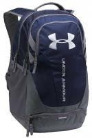 Under Armour Hustle Backpack - Midnight Navy / Graphite / Silver