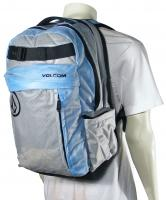 Volcom Propel Vinyl Backpack - Cyan / Grey