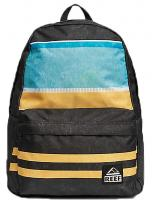 Reef Moving On Backpack - Black / Multi Stripes