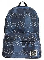 Reef Moving On Canvas Backpack - Navy Waves