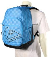 Quiksilver Schoolie Backpack - Small Checks Cyan