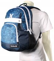 Hurley Honor Roll Printed Backpack - Photo Blue / Midnight Teal