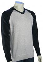 Hurley One and Only V-Neck Sweater - Heather Mineral Grey