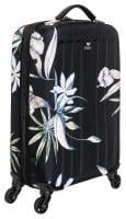 Roxy Stay True 35L Wheelie Luggage - True Black Delicate Flowers