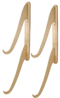 Surf Trunks Surfboard Double Wall Rack - Natural