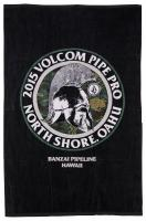 Volcom Pipe Pro Beach Towel - Black