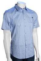 Volcom XYZ SS Button Down Shirt - Dust Blue