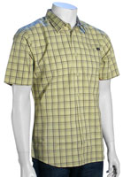 Volcom XYZ Plaid SS Button Down Shirt - Haze Yellow