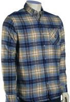 DC Machete LS Button Down Shirt - Blue Ashes