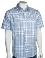 Quiksilver Waterman Pismo Beach SS Button Down Shirt - Blue