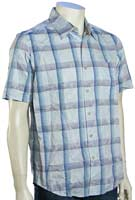 Quiksilver Waterman Palermo SS Button Down Shirt - Blue