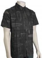 Quiksilver Waterman Boardstory Button Down Shirt - Dark Shadow
