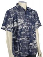 Quiksilver Waterman Poipu Beach Button Down Shirt - Estate Blue