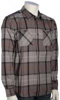 Quiksilver Waterman Day Hike Flannel LS Button Down Shirt - Moon Mist