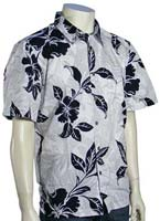 Billabong Pukalani Floral SS Button Down Shirt - White